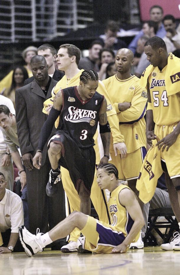 Iverson en el partido uno de las finalas de 2001  AMSport