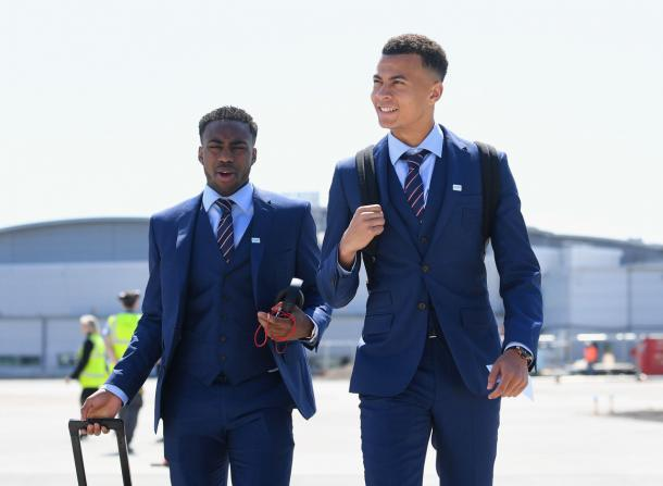 Rose on international duty with Spurs teammate Danny Rose. (Picture: Getty Images)