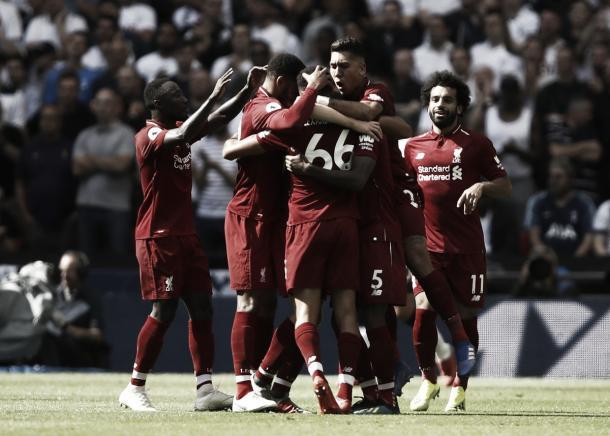 Liverpool dominou a equipe londrina durante boa parte do jogo. (Foto: Twitter @LFC)