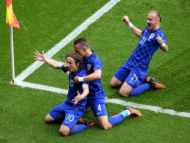 Modric celebra el gol de la victoria. Imagen | Peru.com