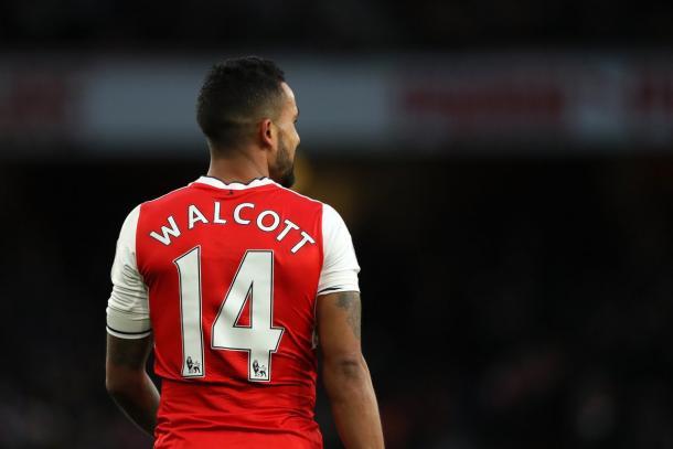 Theo Walcott. Fonte: www.twitter.com/arsenal