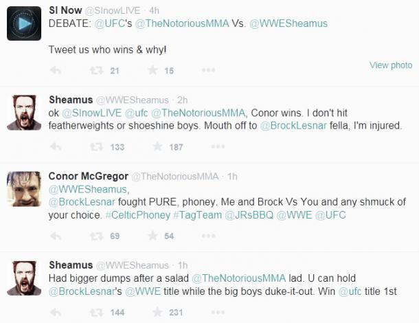 McGregor has been arguing with Sheamus recently. Photo-whoatv.com