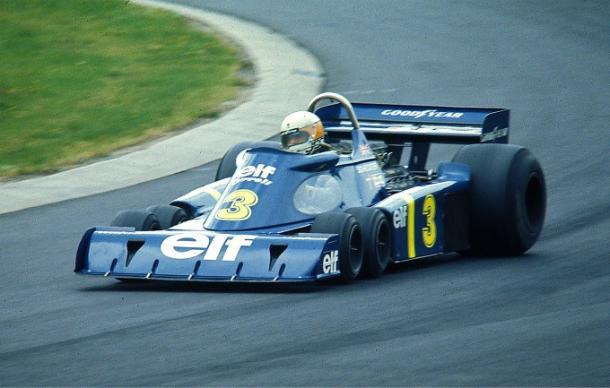 El Tyrrell P34 destacó en los 70 por tener un coche de 6 ruedas | Fuente: Wikipedia