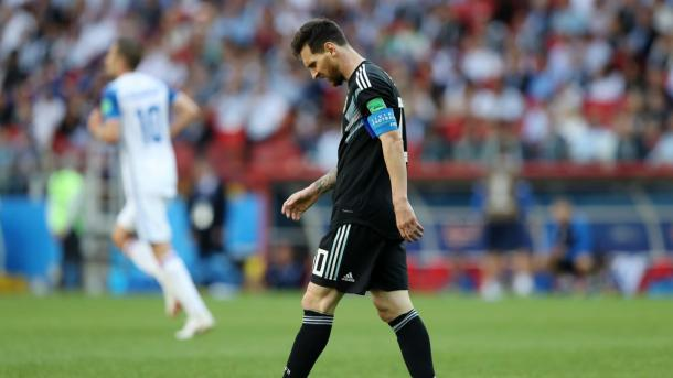 Lionel Messi cut a frustrated figure all game long | Source: Getty Images via FIFA.com