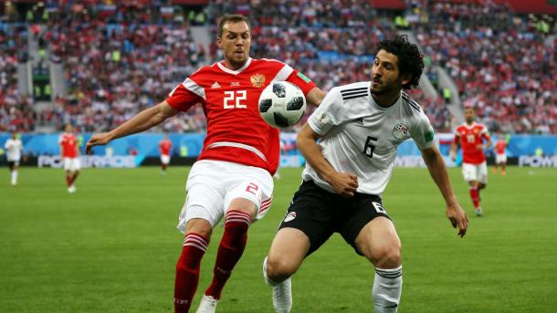 Dzyuba, el goleador ruso ante Egipto | Foto: FIFA.com