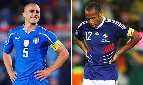 Atuais campeã e vice-campeã na época, Itália e França foram muito decepcionantes | Foto: Reprodução