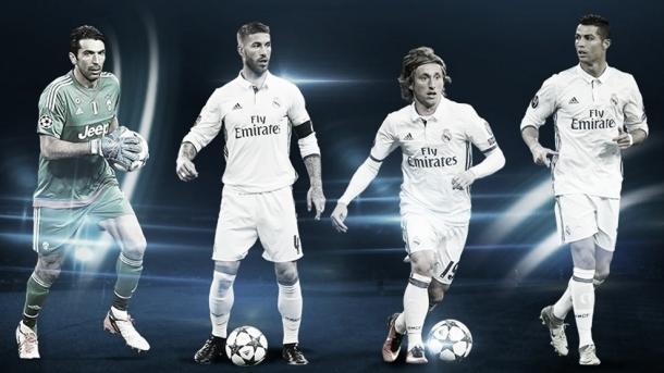 Ramos y Modric también fueron galardonados en defensa y mediocampo | Foto: UEFA