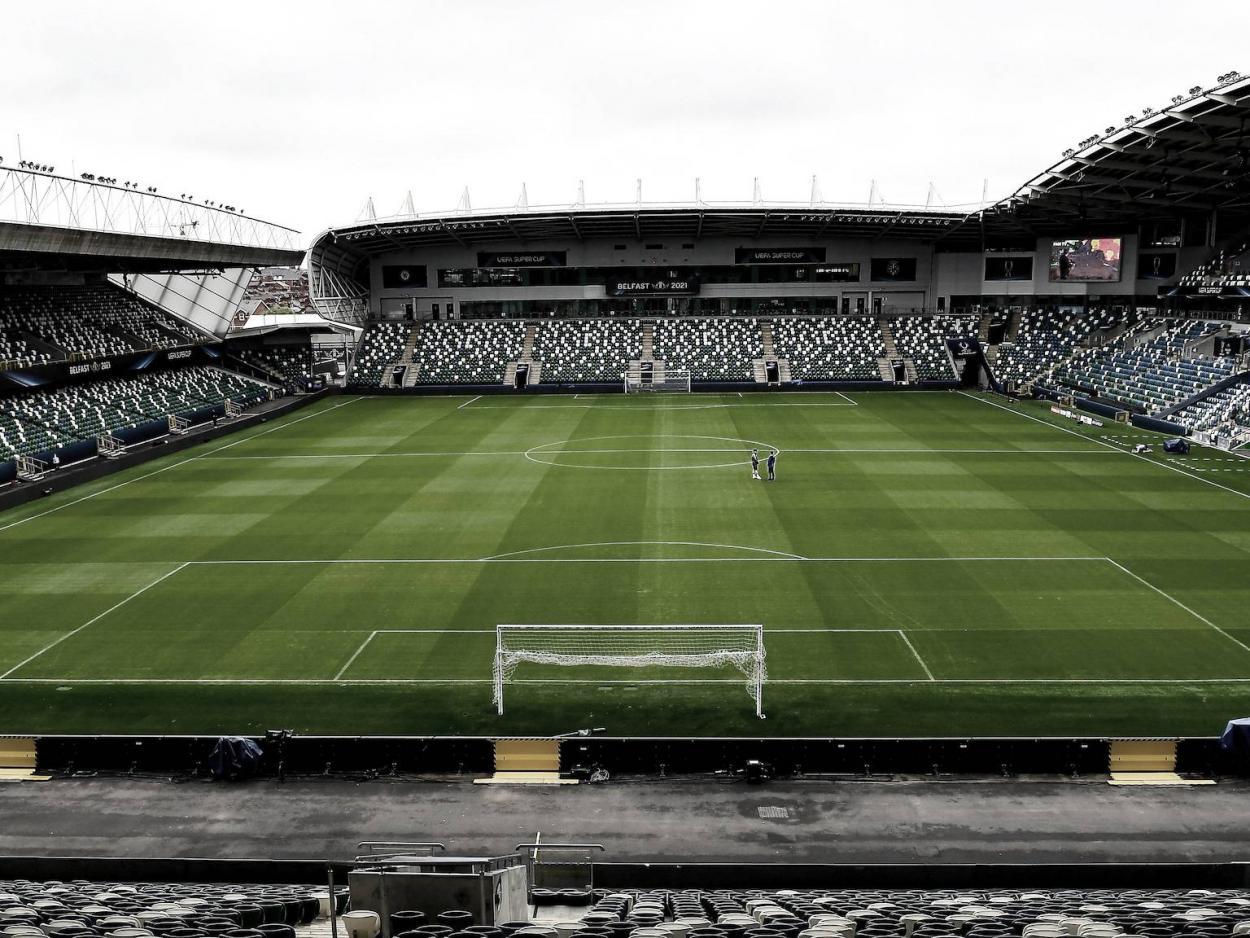 National Football Stadium, de Belfast, el escenario de la final   Foto: UEFA