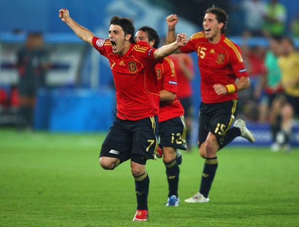 David Villa fue el goleador de la Euro con 4 tantos | Foto: @Uefacom_es