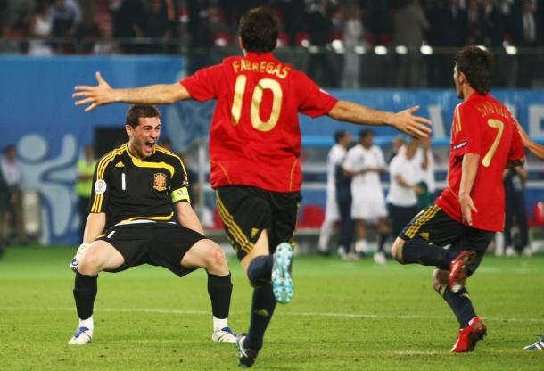 Casillas, Villa y Fábregas, figuras importantes en el titulo de 'La Roja' | Foto: @Uefacom_es