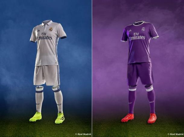 Belos e novos uniformes merengues (Foto: Divulgação/Real Madrid CF)