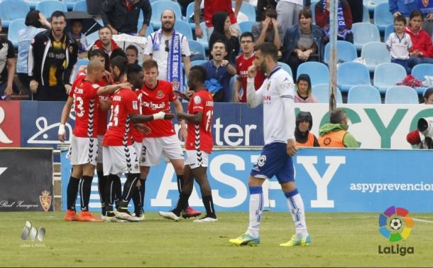 Nàstic consegue grande vitória e agora briga pelo acesso direto (Foto: Divulgação/La Liga)
