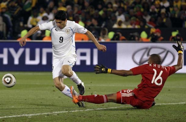 Suárez contra a África do Sul | Foto: Ivan Martinez/AP