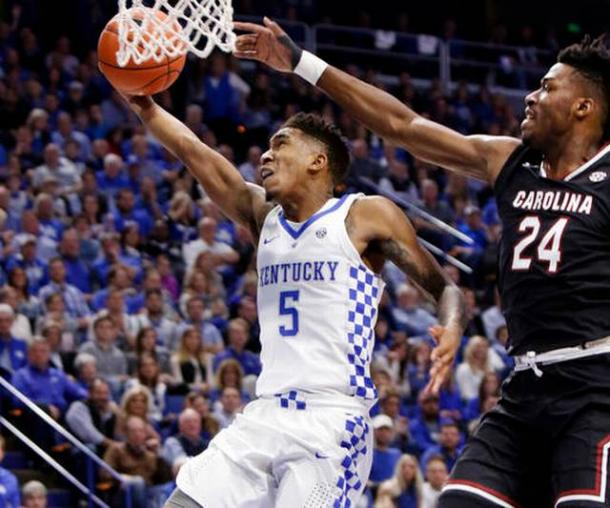 Kentucky S Malik Monk Named Ap Sec Player Of The Year: #5 Kentucky Wildcats Hold Off #24 South Carolina Gamecocks