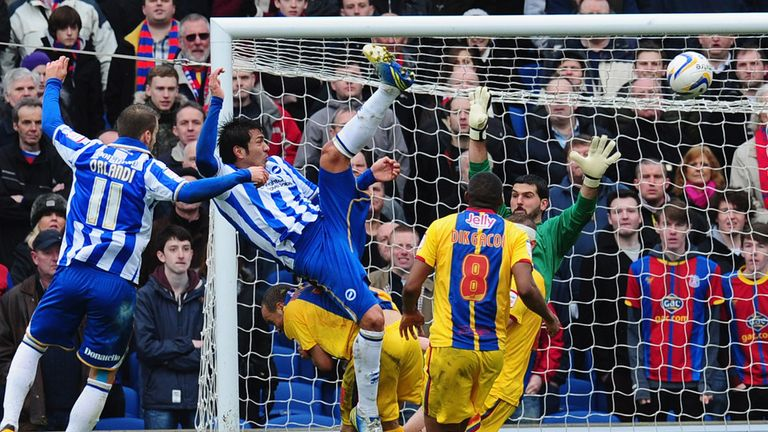 Ulloa on the day he scored a brace against <strong><a href='https://vavel.com/en/football/2021/09/22/crystal-palace/1086826-crystal-palace-vs-brighton-preview-can-vieiras-men-overcome-high-flying-seagulls.html'>Crystal Palace</a></strong>. | Photo: Sky Sports
