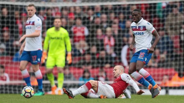 Arsenal vs Stoke. FOTO: @StokeCity
