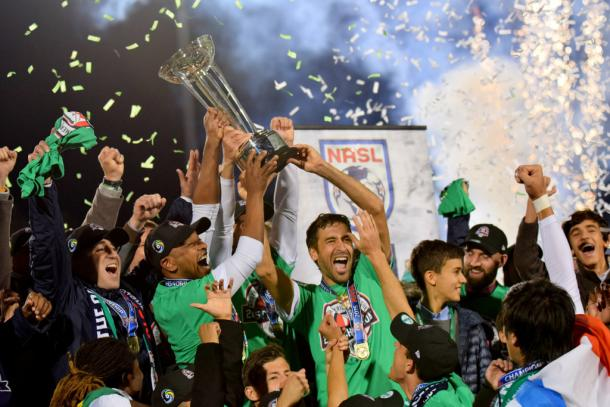 The Cosmos celebrates the 2015 title | Photo: AP