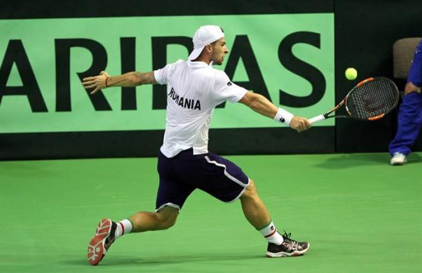 Adrian Ungur en Copa Davis. Foto: daviscup.com