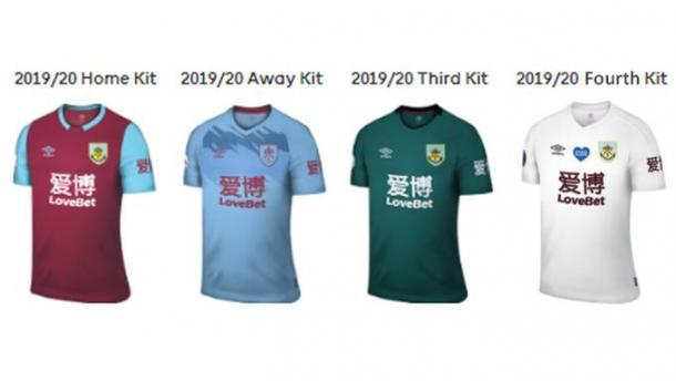 Uniformes do Burnley na temporada (Foto: Divulgação)