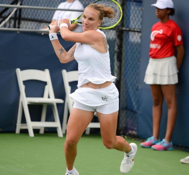 Svetlana Kuznetsova in action at the Citi Open | Photo: Noel John Alberto / VAVEL USA Tennis