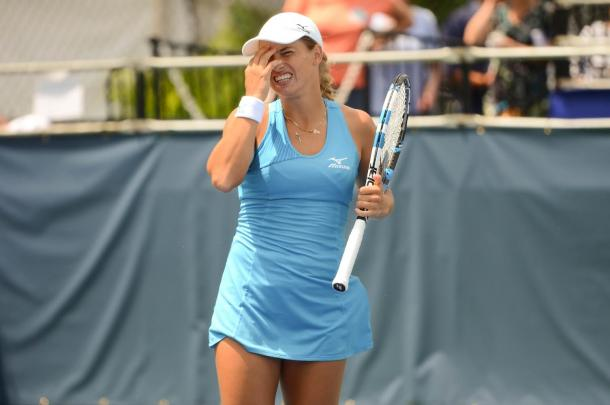 Yulia Putintseva goes hard on herself after committing an error | Photo: Noel John Alberto / VAVEL USA Tennis