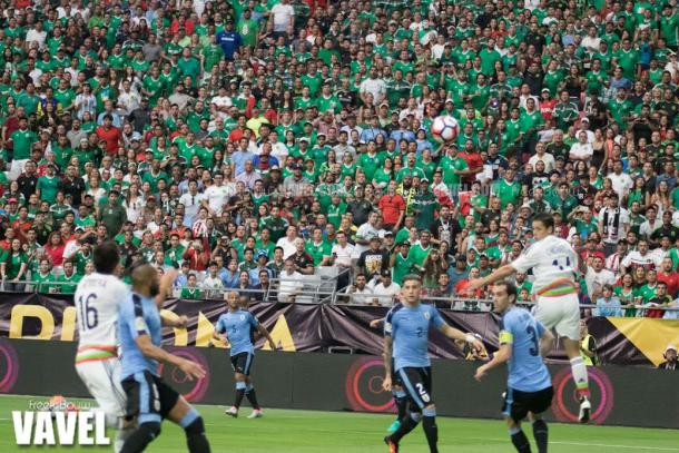 The fans were certainly a sea of El Tri green as the Mexican side had a large advantage in the crowd. | Photo: Freek Bouw/VAVEL USA