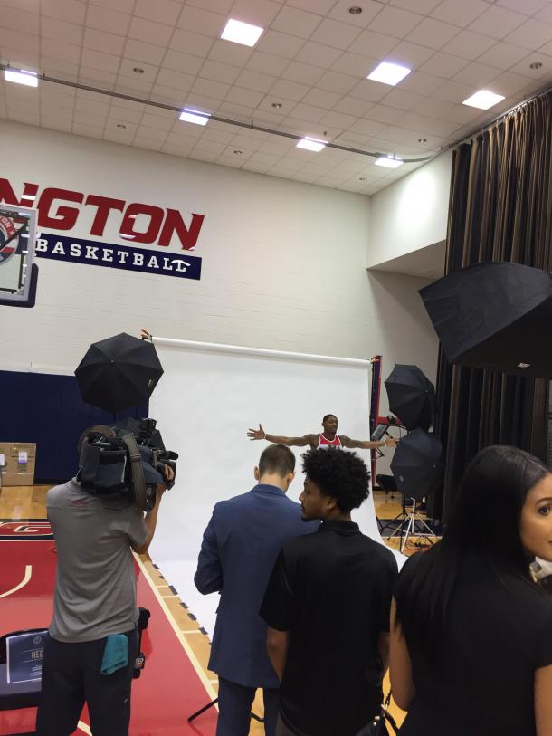 Bradley Beal poses for one of his many photoshoots. Photo: Raj Sawhney