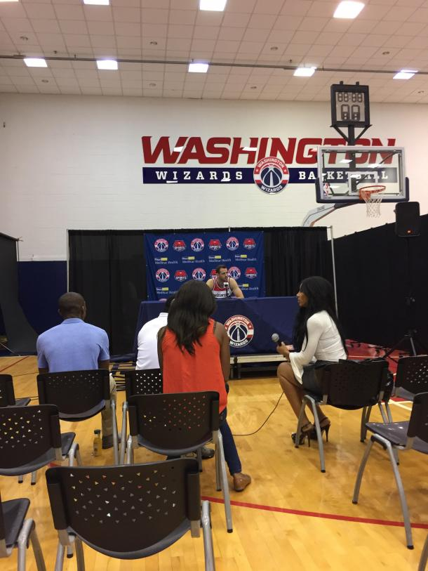 Jason Smith discusses his role with this Wizards team. Photo: Raj Sawhney