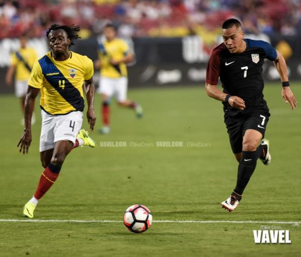 USMNT Bobby Wood staked his case for a place in Jurgen Klinsmann's starting XI against Colombia with a strong showing after coming on as a substitute. | Photo: Mike Dorn/VAVEL USA