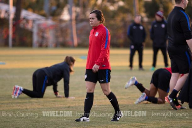 FC Kansas City draft pick Christina Gibbons in her first senior USWNT camp. | Source: Jenny Chuang - VAVEL USA