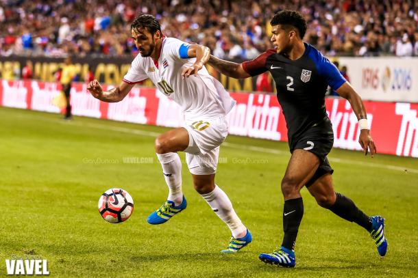 DeAndre Yedlin (Right) and the rest of the United States defense will need to put in the best 90 minute shift on Tuesday against Argentina if they want to win. Photo provided by VAVEL USA.