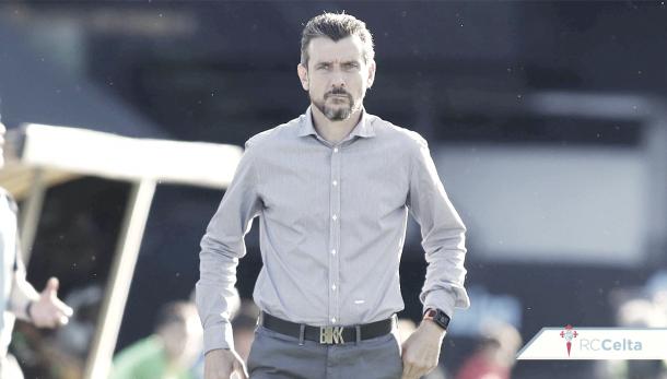 Entrenador del RC Celta, Juan Carlos Unzué