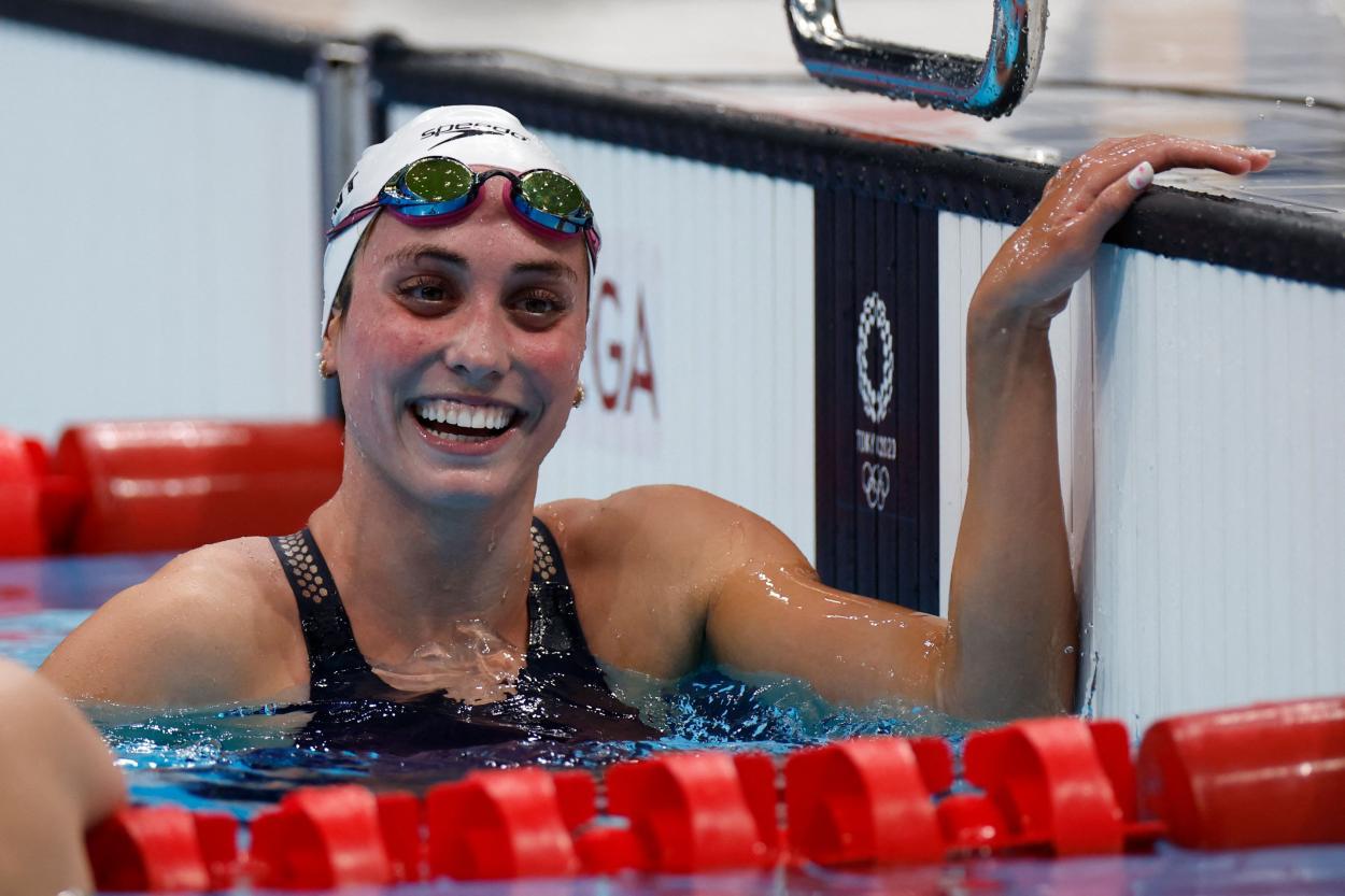 Emma Weyant, plata en el 400 estilos / Fuente: Twitter (@USASwimming)