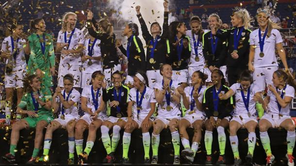 The USWNT will want to repeat these celebrations next year | Source: thefa.com