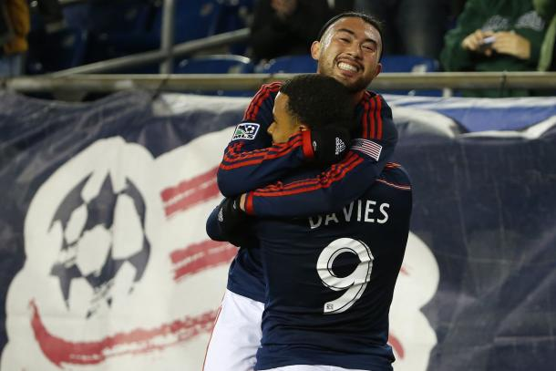 Lee Nguyen (Top) and Charlie Davies (Front) will need to use their pace and creativity to break down D.C. United's defense on Saturday. Photo provided by Winslow Townson-USA TODAY Sports.
