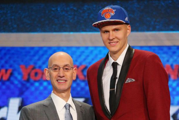 Porzingis es elegido en 2015 por los NY Knicks | Fuente: USA Today
