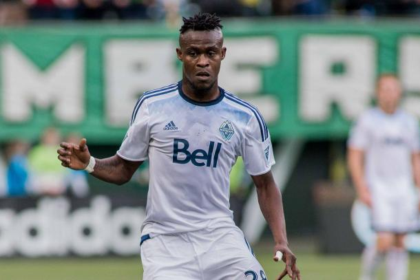 Gershon Koffie help run the Whitecaps midfield and now he will bring stability and consistency to New England. Photo provided by USA TODAY Sports.