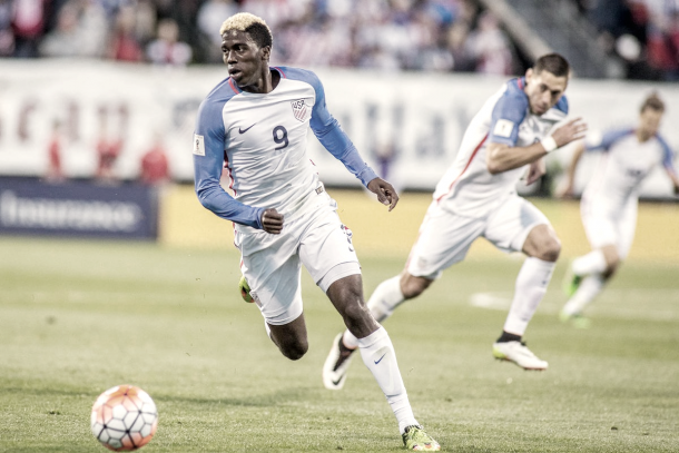 Gyasi Zardes' performances with the Galaxy has seen him earn USMNT call ups. | Photo: Trevor Ruszkowski-USA TODAY Sports