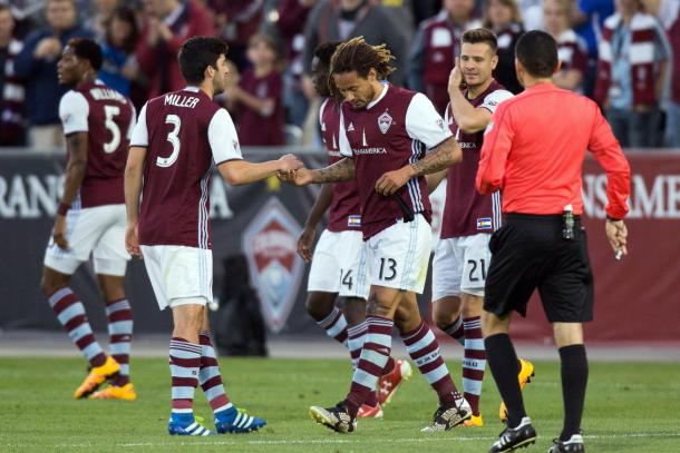 The Colorado Rapids can potentially jump into first place with a victory on Saturday against the Montreal Impact at Stade Saputo. Photo provided by USA TODAY Sports.