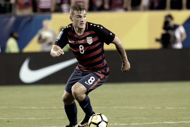 Jordan Morris will return to his Seattle teammates after helping his nation in the Gold Cup. | Photo: Bill Streicher-USA TODAY Sports