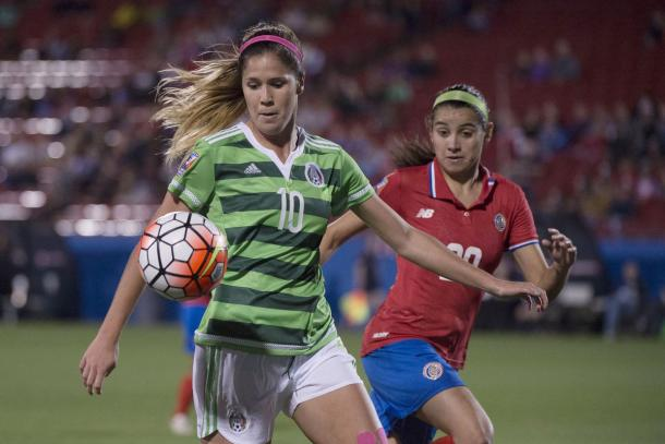 Katie Johnson has made 16 appearances for Mexico | Source: Jerome Miron-USA TODAY Sports