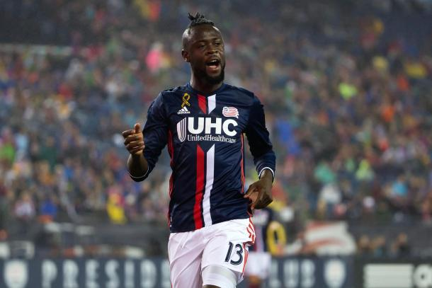 Kamara netted New England's second goal (Photo: Winslow Townson-USA TODAY Sports)