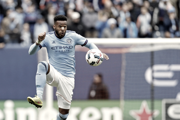 Ethan White was a staple in NYCFC's backline in 2017. | Photo: Adam Hunger-USA TODAY Sports
