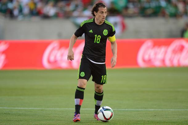 Mexico's captain Andres Guardado will once again have to lead El Tri in the tournament as he did in the 2015 Gold Cup. Photo provided by USA TODAY Sports.