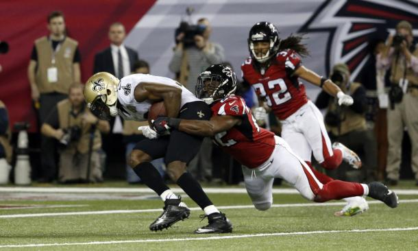 Safety Keanu Neal is party of an imrpoving Falcons secondary | Source: Jason Getz/USA TODAY Sports