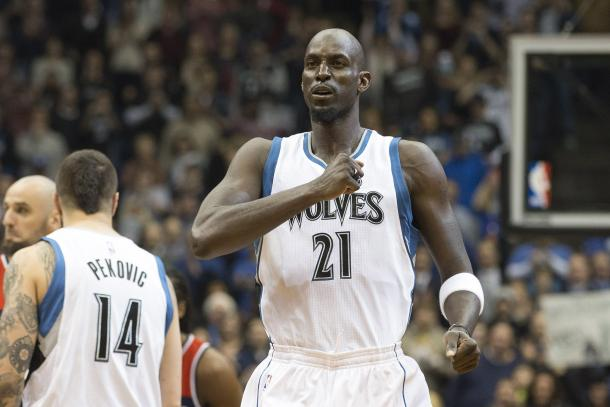 Kevin Garnett was the heart and soul of the Minnesota Timberwolves. Photo: Jesse Johnson / USA Today Sports