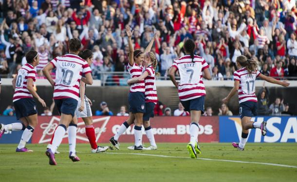 Christen Press starred the last time the USWNT and Scotland faced each other   Source: sbisoccer.com