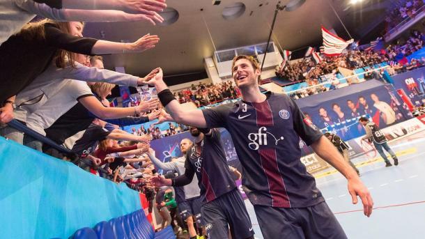 Uwe Gensheimer tras clasificarse para la Final Four. Foto: Paris Saint Germain