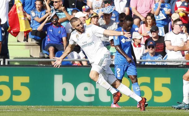 Benzema comemorando seu gol | Foto: Divulgação/La Liga