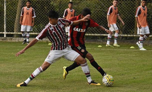 Na terça-feira (10), time sub-17 do Fluminense jogou com Adidas (Foto: Mailson Santana/Fluminense F.C.)